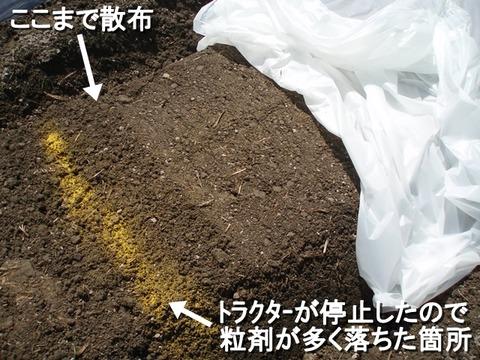 粒剤の散布状態
