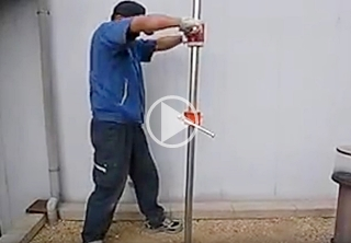 パイプ打ち込み器動画