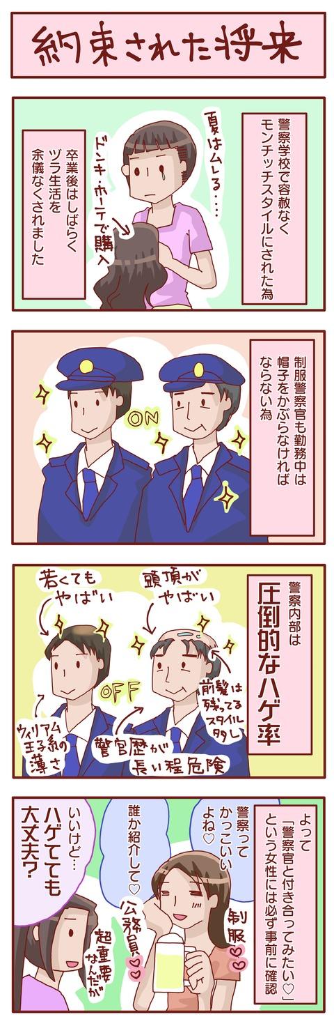 警察官とハゲ