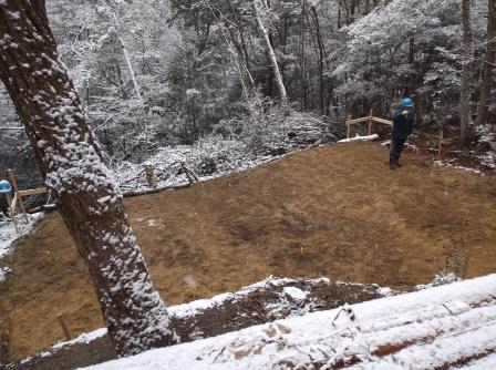 DSCF0312ウッドデッキ地盤雪
