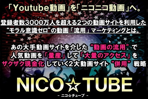 NICO☆TUBE(ニコチューブ)新田俊介の実践例を暴露!ニコ動では稼げない?