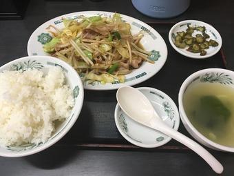 「熱烈中華食堂 日高屋」(秋葉原中央通店/肉野菜炒め定食)
