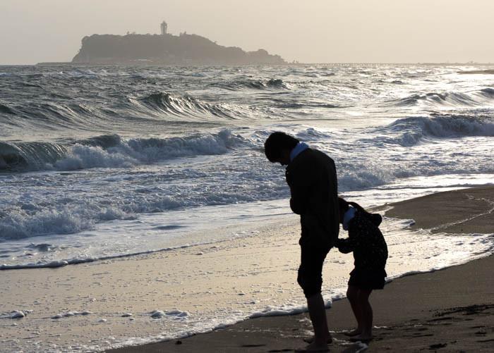 江ノ島と親子