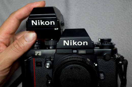 Nikon F3のファインダー