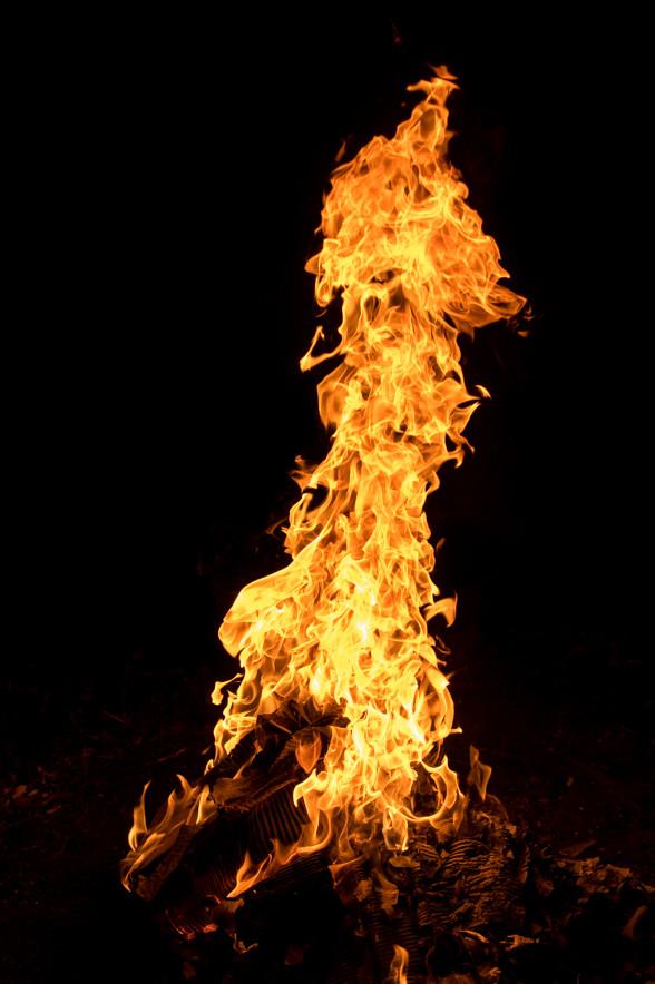 炎の中から何が出た?