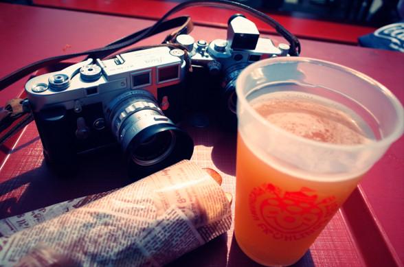 ライカとビール