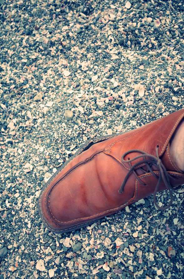 靴が壊れた