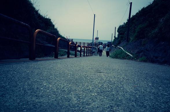 海岸へ続く道