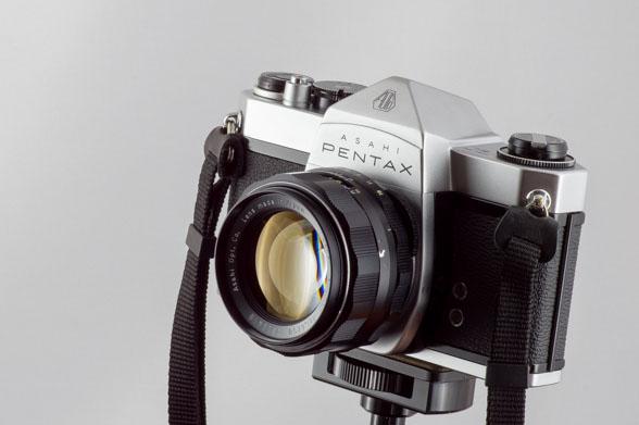 放射線レンズ、スーパータクマー 50mm F1.4を装着
