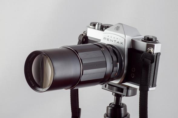 SMCタクマー 200mmF4を装着