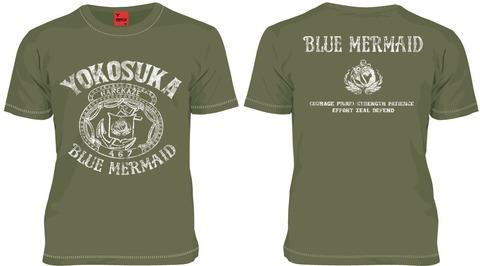 ハイスクール フリート 海洋学校 Tシャツ  アーミーグリーン