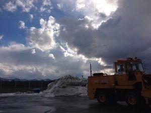 迫力満点の雪山の積み上げ