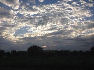 昨日の夕空