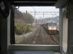 永尾駅で787系と