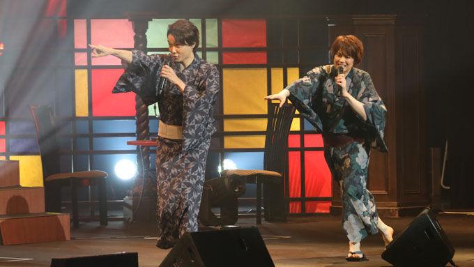 ミュージカル界のプリンス浦井健治、ゲストの井上芳雄と浴衣姿でのコラボライブで熱唱!!