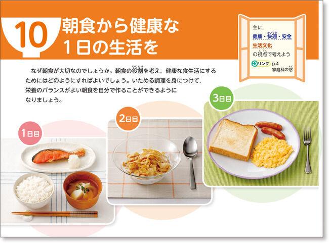 家庭科の教科書「シャケ!味噌汁!ご飯!これが本物の朝飯だぁーーっ!!!」