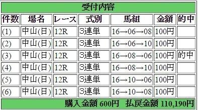 2017年4月2日中山12R110190円3連単