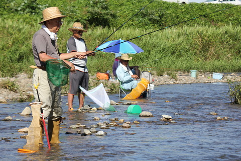 鮎の餌釣り