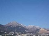 別府の雪景色