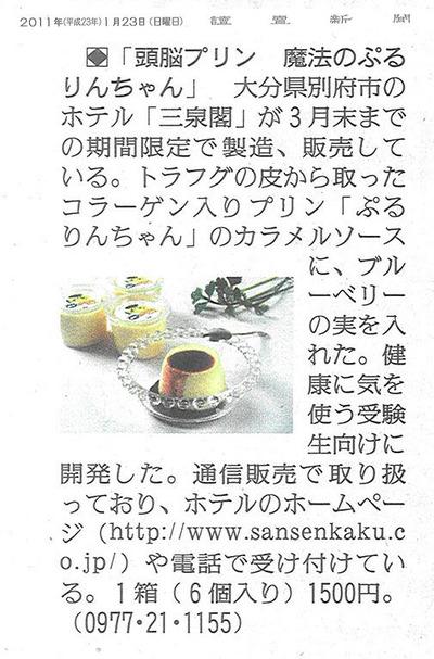 読売新聞20110123掲載内容