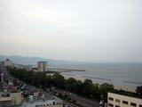 ビアガーデンから見える海