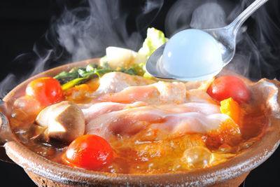 ぷるるん美肌トマト鍋