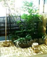露天風呂にある小庭園