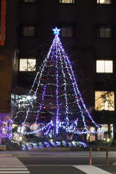 三泉閣のクリスマスツリー