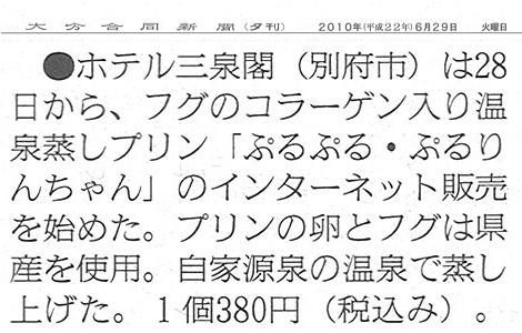 ぷるぷるぷるりんちゃん大分合同新聞20100629