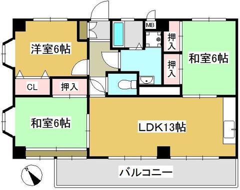 コーポハクウン 502 2