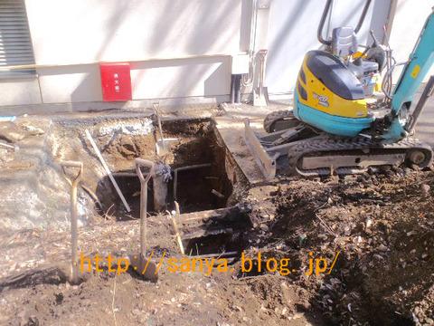 土木工事で掘削穴掘り