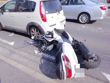バイク事故現場