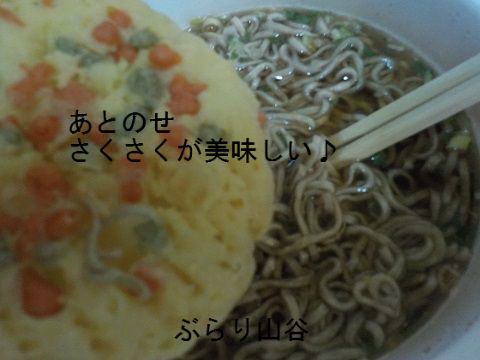 天ぷらをあとのせさくさくにした方が美味しい