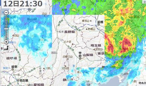 2019-10-12 雨雲レーダー - Yahoo 天気・災害(2)