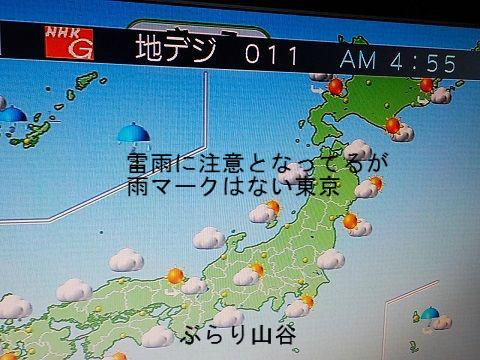 早朝の天気予報