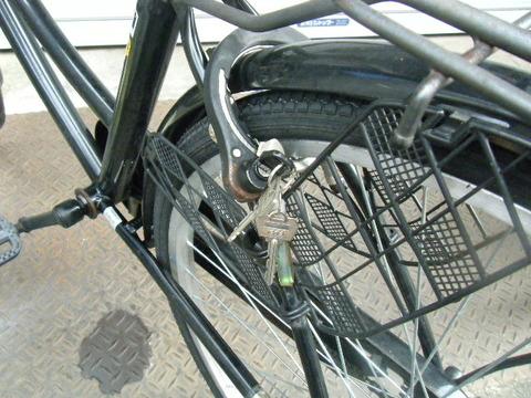 鍵を掛けない自転車