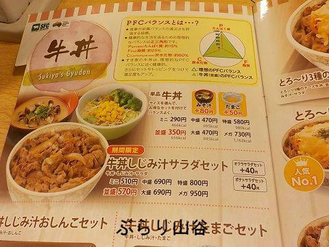 すき家の牛丼単品注文