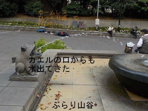 上野公園でホームレスが酔っぱらって寝ている