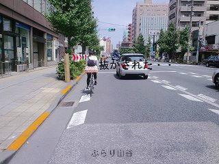 スポーツタイプな自転車女子に追い抜かれる