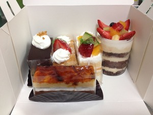 ケーキ5つで1500円
