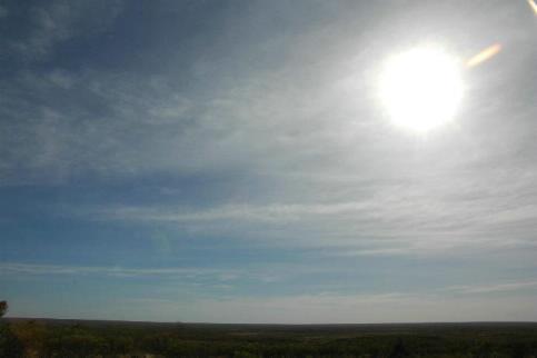 地平線と太陽