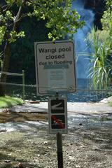 泳いでは行けません
