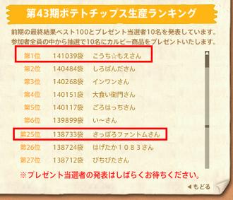 第43期ランキング最終速報(0430)