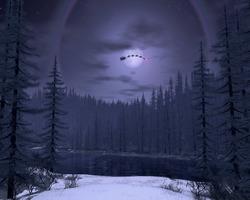 christmas-night-full-moon