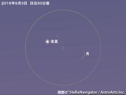 9月3日 細い月と金星が大接近
