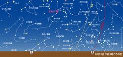 8月13日 ペルセウス座流星群極大