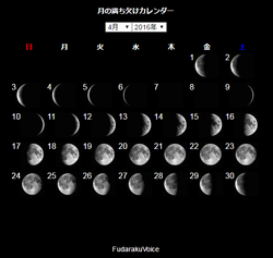 FireShot Capture - 月相カレンダー