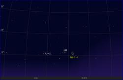 10月16日、月と土星が接近