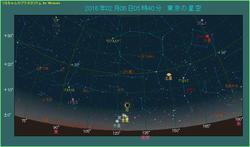 月が金星と水星に近づく 2016年2月6日