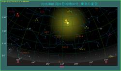 月と木星が並ぶ 2016年1月28日